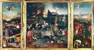 12 - TEMPTATIONS OF ST. ANTHONY, 1501 HIERONYMUS BOSCH