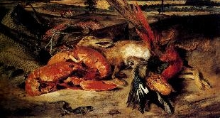 28 - EUGENE DELACROIX'S STILL LIFE WITH LOBSTER