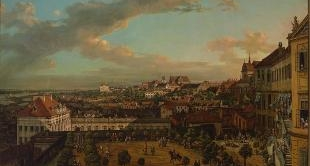17 - VIEW OF WARSAW FROM THE TERRACE OF THE ROYAL PALACE (1773) BY BERNARDO BELLOTTO