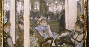 18 - WOMEN ON A CAFÉ TERRACE IN THE EVENING (1877) BY EDGAR DEGAS