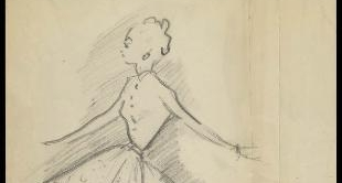 THE DRAWINGS OF CHRISTIAN DIOR