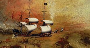 21 - THE SLAVE SHIP, 1840, J.M. TURNER