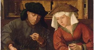 01 - THE MONEYLENDER AND HIS WIFE (1514) BY QUENTIN MASSYS