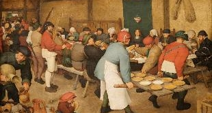 07 - PEASANT WEDDING BY PIETER BRUEGEL (THE)