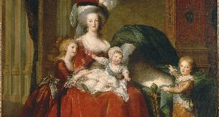 06 - MARIE-ANTOINETTE DE LORRAINE-HABSBOURG, QUEEN OF FRANCE AND HER CHILDREN (1787) BY LOUISE ELISABETH VIGEE-LEBRUN